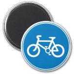 Imán azul de la bicicleta
