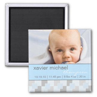 Imán azul de la foto del bebé