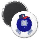 Imán azul de la gorra de béisbol