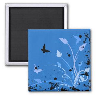 Imán azul de la mariposa del Grunge