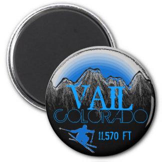 Imán azul de la montaña del esquí de Vail Colorado