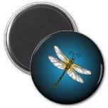 Imán azul de las libélulas de la libélula