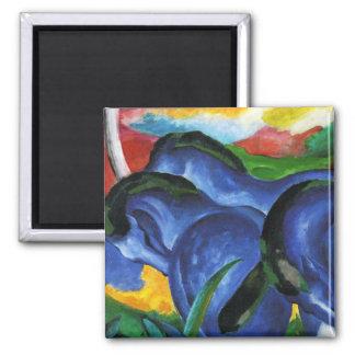 Imán azul de los caballos de Franz Marc
