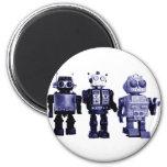 imán azul de los robots