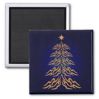 Imán azul del árbol de navidad de Bell