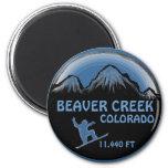 Imán azul del arte de la snowboard de Colorado del