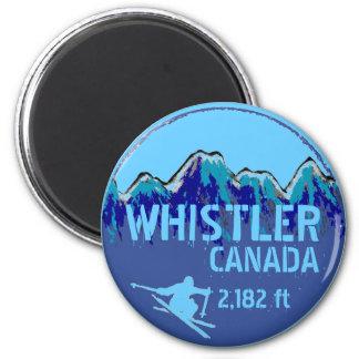 Imán azul del arte del esquí de Canadá de la marmo