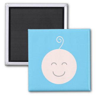 Imán azul del bebé de la sonrisa