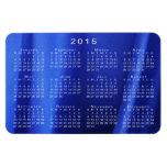 Imán azul del calendario del extracto 2015 de la
