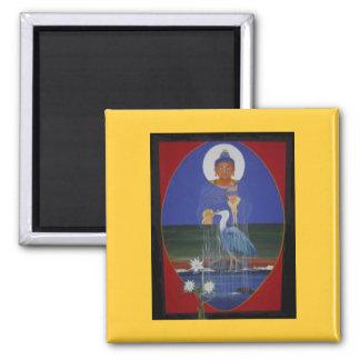 Imán azul del centro del budista de zen de la garz