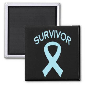 Imán azul del cuadrado de la cinta del cáncer de