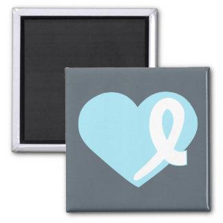 Imán azul del cuadrado de la cinta del corazón del