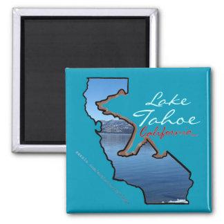 Imán azul del esquema del oso del lago Tahoe Calif