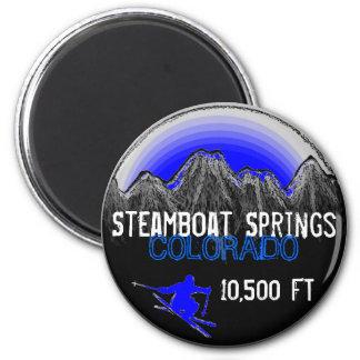 Imán azul del esquí de Steamboat Springs Colorado