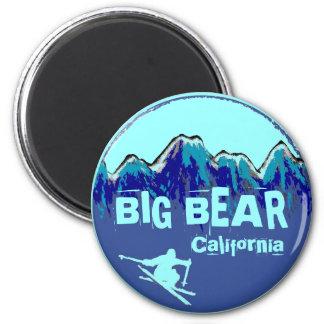Imán azul del esquí del trullo de Big Bear Califor