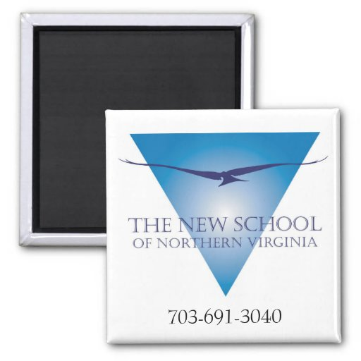 Imán azul del logotipo del triángulo