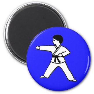 Imán azul del niño 1 de los artes marciales