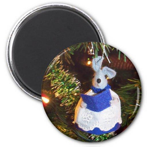 Imán azul del ratón del coro