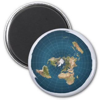 Imán azul equidistante azimutal del mapa de la