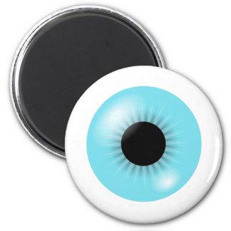 Imán azul grande del globo del ojo