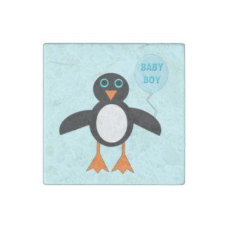 Imán azul lindo de la piedra del pingüino del bebé imán de piedra