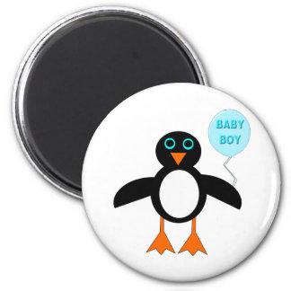 Imán azul lindo del pingüino del bebé