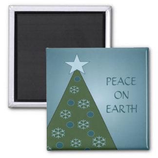 Imán azul pacífico del árbol de navidad