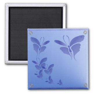Imán azul suave de la mariposa