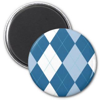 Imán azul y blanco de Argyle
