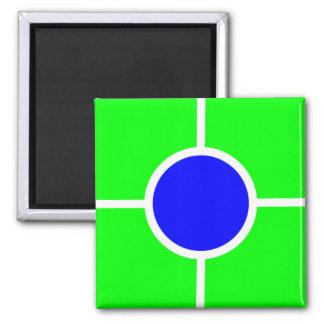 Imán azulverde 074
