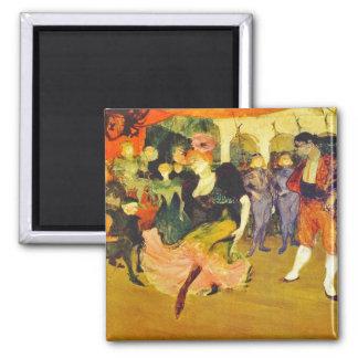 Imán:  Baile del bolero: Toulouse-Lautrec Imán Cuadrado