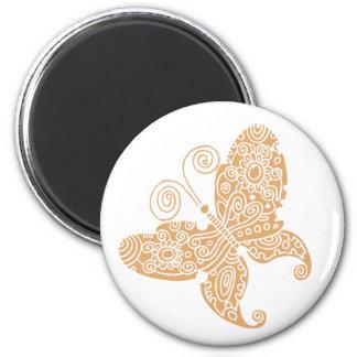 Imán beige de la mariposa