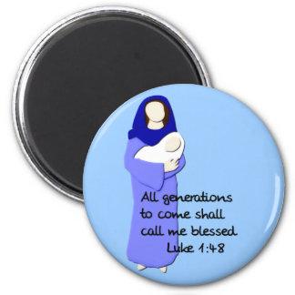 Imán bendecido del Virgen María