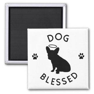 """Imán bendecido """"perro"""" del ángel del dogo francés"""
