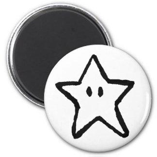 Imán blanco de la estrella