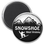 Imán blanco de la snowboard de Virginia Occidental
