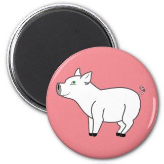 Imán blanco del cerdo