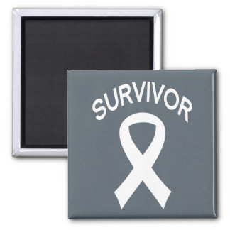 Imán blanco del cuadrado de la cinta del cáncer de
