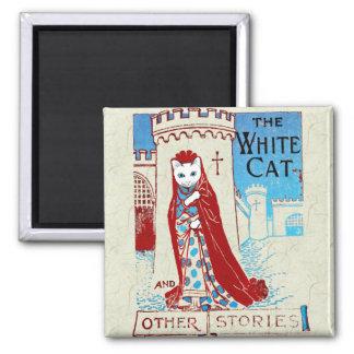 Imán blanco del gato