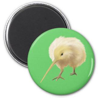 Imán blanco del pájaro del kiwi