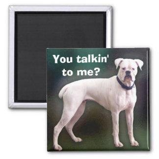 Imán blanco del perro del boxeador