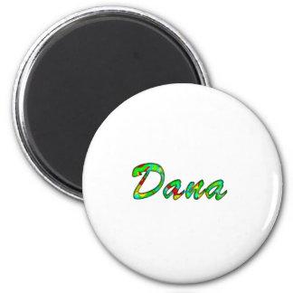 Imán blanco del refrigerador de Dana