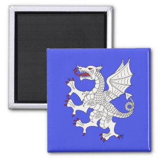 Imán (blanco) desenfrenado del dragón