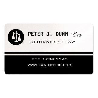 Imán blanco negro del abogado de la ley del tarjetas de visita