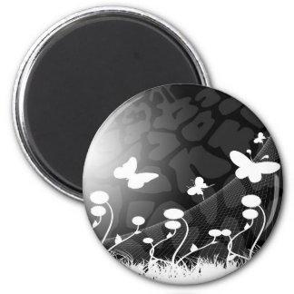 imán blanco y negro