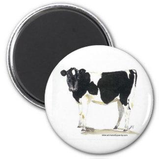 imán blanco y negro de la vaca