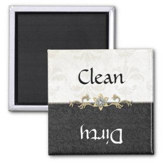 Imán blanco y negro elegante del lavaplatos del da