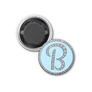 Imán bling del monograma de B