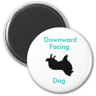 Imán boca abajo del perro