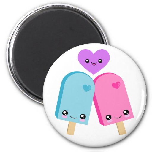 Imán bonito de los Popsicles BFF Kawaii